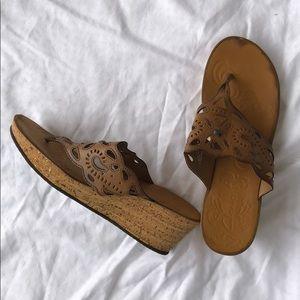 Women's Clark's size 10 wedge sandals